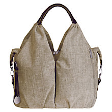 Buy Laessig Neckline Changing Bag, Chocolate Melange Online at johnlewis.com