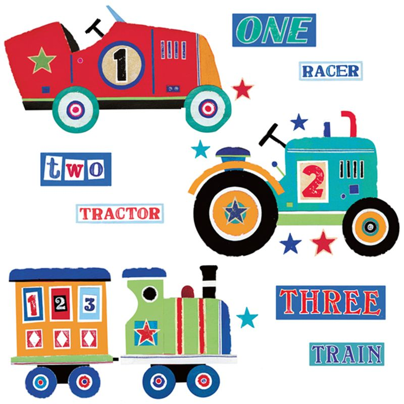 Roommates Roommates Giant Transport Wall Stickers, Multi
