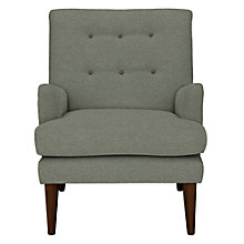 Buy John Lewis Gatsby Armchair, Quinn Blue Grey with Quinn Charcoal Piping Online at johnlewis.com