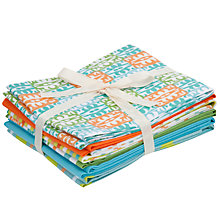 Buy John Lewis Turquoise and Orange Fat Quarters, Pack of 6 Online at johnlewis.com