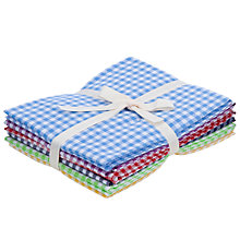 Buy John Lewis Gingham Check  Fat Quarters, Pack of 6 Online at johnlewis.com