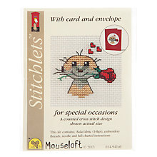 Buy Mouseloft Cross Stitch Kit, Meerkat With Rose Online at johnlewis.com