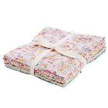 Buy John Lewis Drawn Floral Fat Quaters, Pack of 6 Online at johnlewis.com
