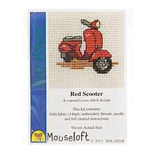 Buy Mouseloft Cross Stitch Kit, Red Scooter Online at johnlewis.com