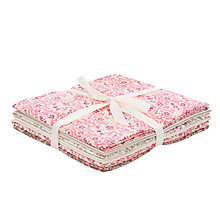 Buy John Lewis Vintage Paisley Fat Quarters, Pack of 6, Pink Online at johnlewis.com