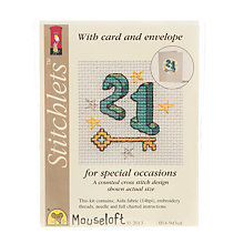 Buy Mouseloft Cross Stitch Kit, Twenty One Online at johnlewis.com