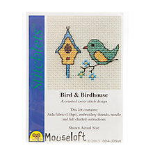 Buy Mouseloft Cross Stitch Kit, Bird & Birdhouse Online at johnlewis.com