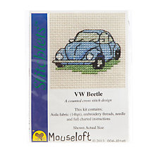 Buy Mouseloft Cross Stitch Kit, VW Beetle Online at johnlewis.com