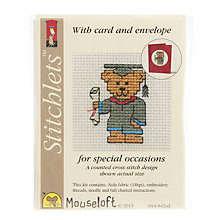 Buy Mouseloft Cross Stitch Kit, Graduation Teddy Online at johnlewis.com