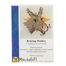 Buy Mouseloft Cross Stitch Kit, Braying Donkey Online at johnlewis.com