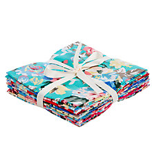 Buy John Lewis Large Vintage Floral Fat Quarters, Pack of 6 Online at johnlewis.com