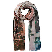 Buy Fay Et Fille Silk Oxford Street Print Scarf, Multi Online at johnlewis.com