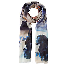 Buy Fay Et Fille Running Horses Print Scarf, Multi Online at johnlewis.com