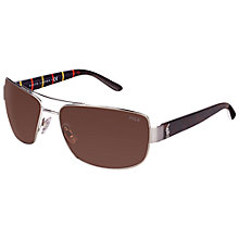 Buy Polo Ralph Lauren 0PH3087 Rectangular Sunglasses Online at johnlewis.com