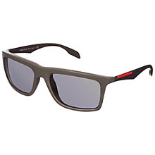 Buy Prada Linea Rossa 0PS02PS SI91A1 Sunglasses, Shiny Grey Online at johnlewis.com