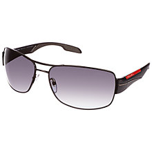 Buy Prada Linea Rossa PS53NS 7AX5W1 Sport Polarised Sunglasses, Black Online at johnlewis.com