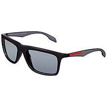 Buy Prada Linea Rossa 0PS02PS 1BO9R1 Polarised Sunglasses, Shiny Black Online at johnlewis.com