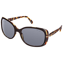 Buy Prada PR080S Rectangular Sunglasses, Black / Havana Online at johnlewis.com