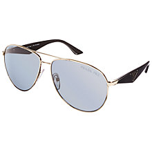 Buy Prada PR53QS Aviator Polarised Sunglasses, Gold Online at johnlewis.com