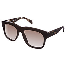 Buy Prada PR14QS Square Sunglasses, Black Online at johnlewis.com