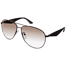 Buy Prada PR53QS Aviator Sunglasses, Gunmetal Online at johnlewis.com