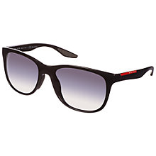 Buy Prada Linea Rossa 0PS03OS 1AB5W1 Sunglasses, Black Online at johnlewis.com