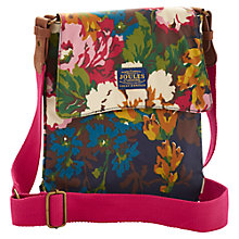 Buy Joules Canvas Across Body Bag, Navy Floral Online at johnlewis.com