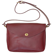 Buy Mimi Berry Frank Leather Medium Shoulder Bag, Bordeaux Online at johnlewis.com