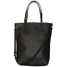 Buy Mimi Berry Angus Large Zip Top Leather Tote Bag, Black Online at johnlewis.com
