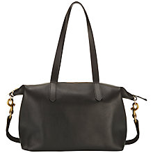 Buy Mimi Berry Juno Medium Zipped Leather Shoulder Bag, Black Online at johnlewis.com
