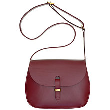 Buy Mimi Berry Peggy Medium Leather Across Body Bag, Bordeaux Online at johnlewis.com