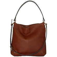 Buy Mimi Berry Honey Medium Zip Leather Shoulder Bag Online at johnlewis.com