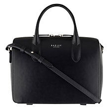 Buy Radley Bloomsbury Leather Medium Zip Around Grab Bag, Navy Online at johnlewis.com