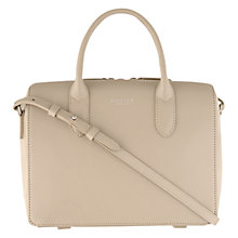 Buy Radley Bloomsbury Small Leather Grab Bag, Natural Online at johnlewis.com