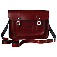 "Buy The Cambridge Satchel Company The Classic 14"" Leather Satchel Bag, Oxblood Online at johnlewis.com"