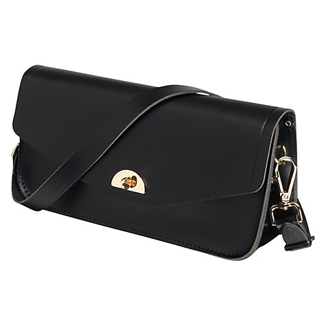 Buy The Cambridge Satchel Company Leather Clutch Bag, Black Online at johnlewis.com