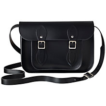 "Buy The Cambridge Satchel Company 11"" Leather Satchel Bag, Black Online at johnlewis.com"