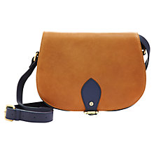 Buy Joules Leather Saddle Buckle Bag, Tan Online at johnlewis.com