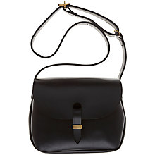Buy Mimi Berry Peggy Leather Across Body Handbag, Black Online at johnlewis.com