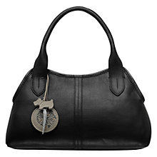 Buy Radley Fulham Small Leather Grab Bag, Black Online at johnlewis.com