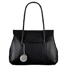 Buy Radley Waterloo Large Leather Shoulder Bag, Black Online at johnlewis.com