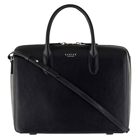 Buy Radley Bloomsbury Large Leather Zip Around Grab Bag, Navy Online at johnlewis.com