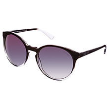 Buy Ralph RA5162 Round Sunglasses, Black Online at johnlewis.com