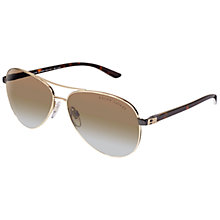 Buy Ralph Lauren 0RL7046 Aviator Sunglasses, Pale Gold Online at johnlewis.com