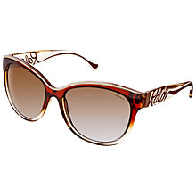 Buy Ralph ORA5178 Cat's Eye Polarised Sunglasses, Brown / Tan Online at johnlewis.com