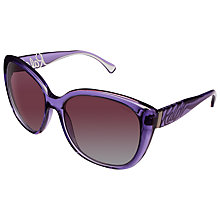 Buy Ralph ORA5177 Square Polarised Sunglasses, Purple Online at johnlewis.com