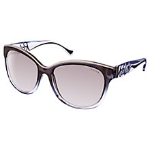 Buy Ralph RA5178 Cat's Eye Sunglasses, Black/Grey Online at johnlewis.com