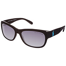Buy Ralph Lauren 0RL8106 Rectangular Sunglasses, Black Online at johnlewis.com