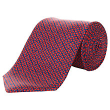 Buy Aquascutum Floral Print Silk Tie Online at johnlewis.com