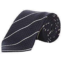 Buy Aquascutum Diagonal Stripe Silk Tie, Brown Online at johnlewis.com